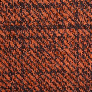 Black and Orange Abstract Blended Virgin Wool Knit
