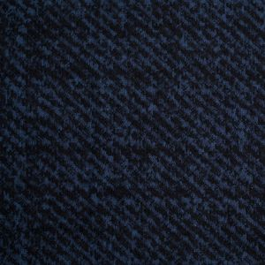 Black and Dusted Blue Abstract Blended Wool Knit