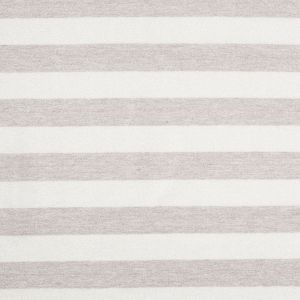 Oyster/Brown Gray Metallic Striped Cotton Jersey Knit
