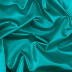 Turquoise Blended Viscose Woven with a Satin Finish