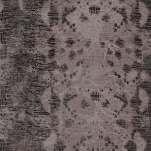 Dove and Brown Reptile Print over Jacquard Woven