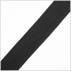 Black Cotton 1 Twill Tape - 2yd Package