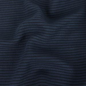 Tanya Taylor Navy Striped Cushioned Double Knit