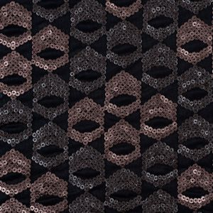 Dusty Rose/Pale Black Sequined Netting