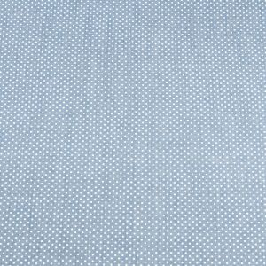 Jay Blue Polka-Dotted Stretch Cotton-Polyester Chambray