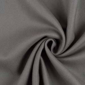 Smoked Pearl Gray Blended Wool Twill