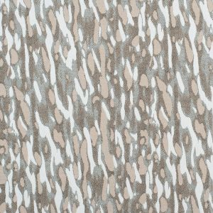 Beige/White Abstract Camo Stretch Cotton-Poly Jacquard