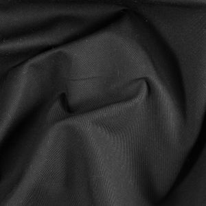 Black Eco-Friendly Blended Cotton Twill