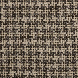 Natural/Black Checked Blended Wool Woven