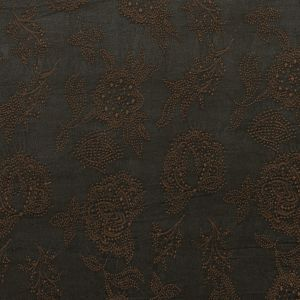 Brown and Olive Night Floral Embroidered Woven