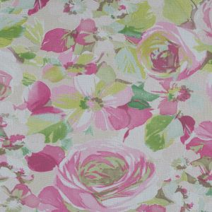 French Pink and Green Floral Mesh