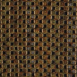 Green/Black/Brown Geometric Loosely Woven Novelty