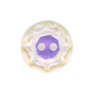 Iridescent/Crystal Glass Button - 18L/22mm