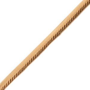 Brown Cotton Blend Twisted Cord Trim - 0.25