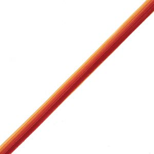 Red Orange and Yellow Satin Piping - 0.375