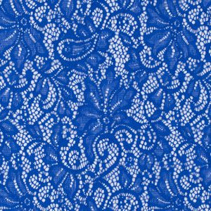 Royal Blue Floral Re-embroidered Stretch Lace