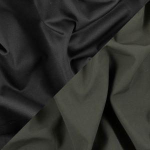 Army Green/Black Polyester Double Cloth