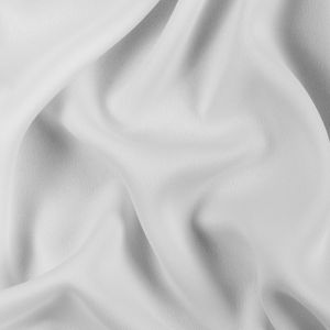 Ivory Satin-Faced Polyester Crepe