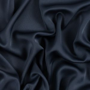 Navy Satin-Faced Polyester Crepe