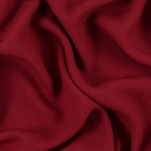 Red Satin-Faced Polyester Crepe