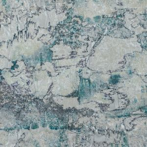 Digitally Printed Turquoise Abstract Jacquard