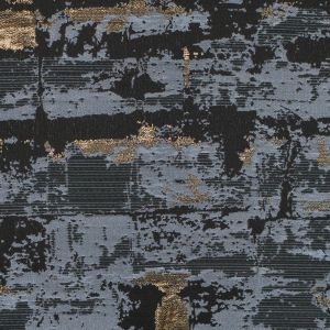 Gold, Black and White Abstract Metallic Jacquard