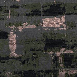 Black, Hunter Green and Copper Abstract Metallic Jacquard