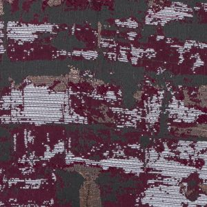 Maroon and Copper Abstract Metallic Jacquard