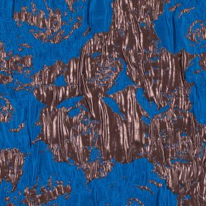 Metallic Copper and Blue Abstract Jacquard/Brocade