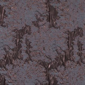 Metallic Copper and Gray Abstract Brocade