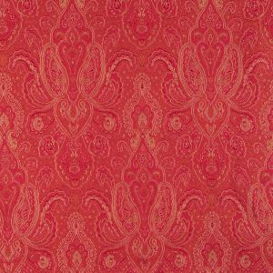 Red and Gold Paisley Brocade/Jacquard