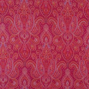 Red, Purple and Gold Paisley Brocade/Jacquard