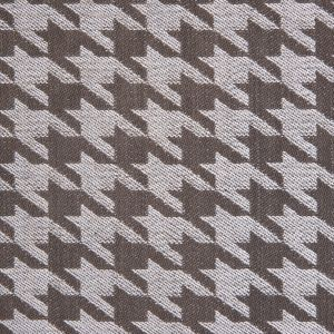 Brown/Ivory Houndstooth Cotton Twill