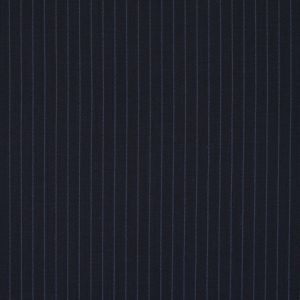 Black and Blue Pinstriped Stretch Wool Suiting
