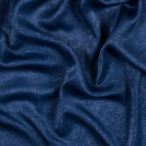 Italian Ensign Blue Dyed Washed Polyester Dobby