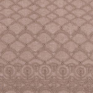 Fennel Seed Beige Lacey Novelty Crepe