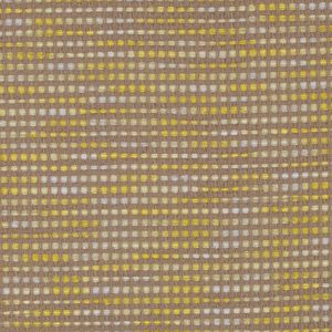 Beige and Yellow Blended Cotton Woven