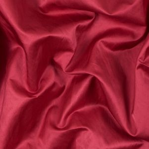 Cranberry Red Blended Polyester Satin