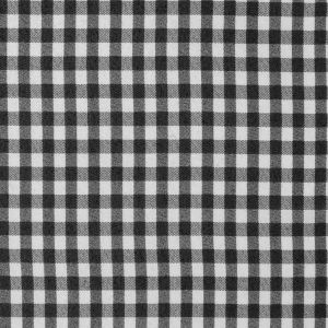 Black and White Gingham Printed Polyester Chiffon