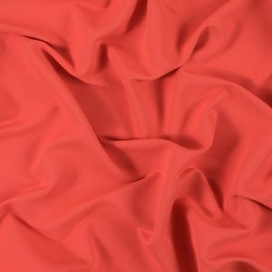 Neon Orange Polyester and Bamboo Wicking Fabric