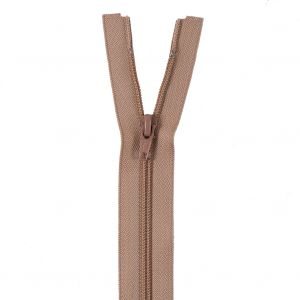 Tan Separating Zipper with Nylon Coil - 17.5