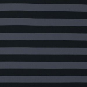 Black and Metal Gray Awning Striped Stretch Eclon Jersey