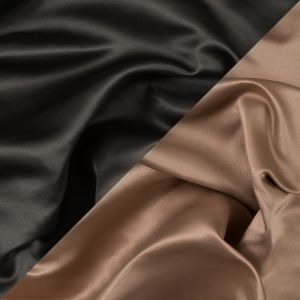 Military Green and Tan Two-Tone Double Duchesse Satin