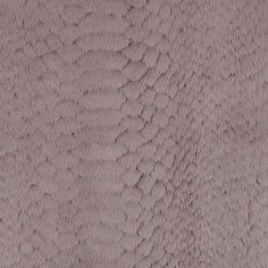 Taupe Silky Embossed Stretch Faux Fur