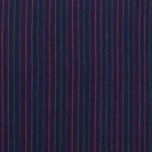 Italian Navy, Red and Green Striped Blended Wool Twill