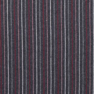 Italian Gray, Red and White Striped Blended Wool Twill
