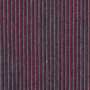Italian Red and Gray Striped Wool Blend
