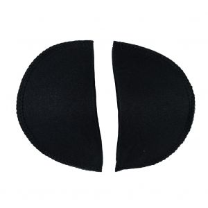 Foam Shoulder Pads Covered with Black Polyester - 6 x 3.5 x .5