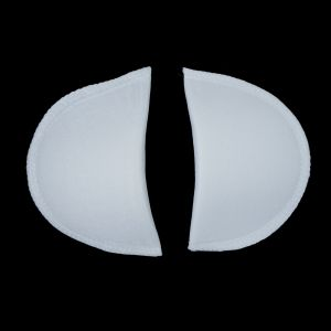 Foam Shoulder Pads Covered with White Polyester - 6 x 3.5 x .5