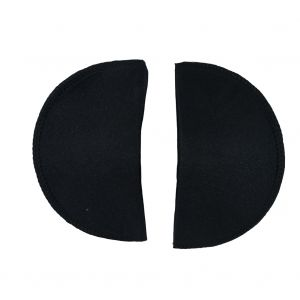Foam Shoulder Pads Covered with Black Polyester - 7 x 4 x .5